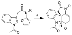 Exemple de cycloaddition de l'indole