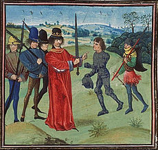 Institution of Baldwin I Bras de Fer, the first count of Flanders by Charles the Bald.jpg
