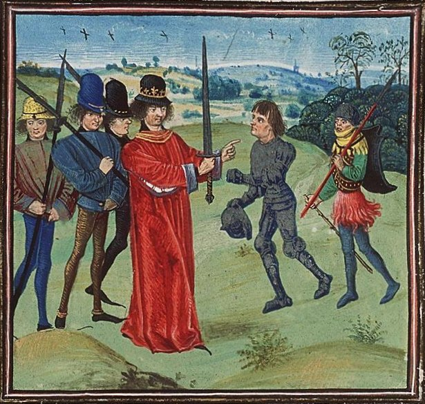 Institution of Baldwin I Bras de Fer, the first count of Flanders by Charles the Bald
