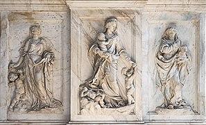 Interior of Santi Giovanni e Paolo (Venice) - Monument of the Valier Bas-relief right.jpg