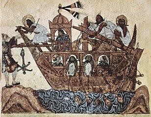 Abû Zayd bittet, an Bord genommen zu werden (39. Maqâmât)