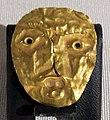 Iraq, mesopotamia, lamina d'oro con volto maschile, III sec. ac..JPG