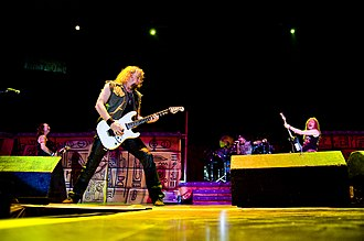 Adrian Smith - Smith performing with Iron Maiden during the Somewhere Back in Time World Tour.
