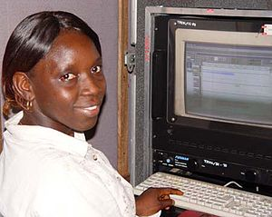 Atunda Ayenda - Isastu Mansaray who plays Safie in the show and assists in producing the show. She is also a radio programme editor.