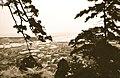 Ishinomaki, Old Kitakami River mouth, view from Mount Hiyori (石巻、日和山から旧北上川河口を望む) by Yasuhiko Ito.jpg