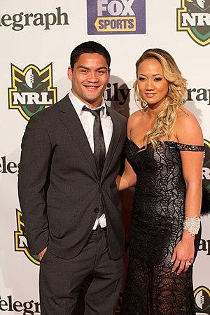 Issac Luke - Luke at the 2012 Dally M Awards with Mikayla Watts