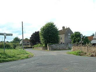 Tytherington, Gloucestershire - Itchington. Village centre looking NW near NE corner of square