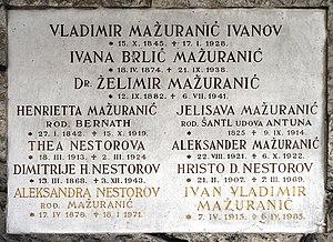 Ivana Brlić-Mažuranić - Gravestone of Ivana Brlić-Mažuranić at the Mirogoj Cemetery in Zagreb