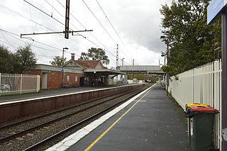 Ivanhoe railway station, Melbourne railway station in Ivanhoe, Melbourne, Victoria, Australia