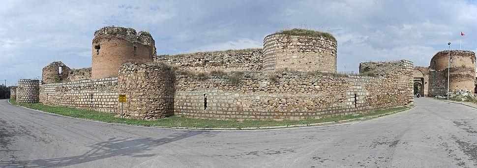 Iznik Wall at Yenisehir Gate 8227 Panorama
