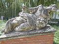 Jász-kun headquarter statues. Listed ID 5920. Two female figure group (L). - Fürdő street, Jászberény, Hungary.JPG