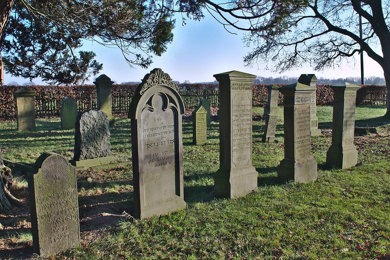 Jüdischer Friedhof Vechta Grabsteine.JPG