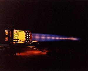 Pratt & Whitney J58 - J58 on full afterburner, showing shock diamonds