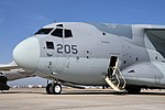 JASDF C-2(78-1205) forward fuselage section left front low-angle view at Komaki Air Base March 3, 2018.jpg