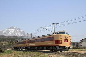 Aizu Liner - A 485 series EMU on an Aizu rapid service in April 2015
