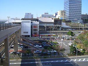 Higashi-Totsuka Station - East Exit of Higashi-Totsuka Station, November 2004