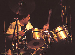 1982 in jazz - Drummer J.R. Mitchell in an appearance with his quintet at the 1982 Kool Jazz Festival in New York