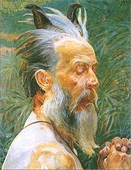 The head of a faun
