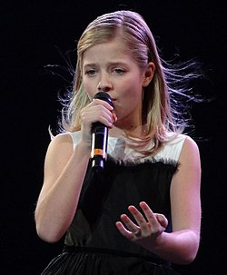 Jackie Evancho in Black Dress at Mandalay Bay (crop).jpg
