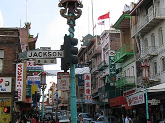 Jackson Street (San Francisco) - Jackson Street / Grant Avenue in November 2006