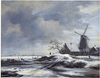 Winter Landscape near Haarlem - Image: Jacob van Ruisdael Winter Landscape with a Windmill
