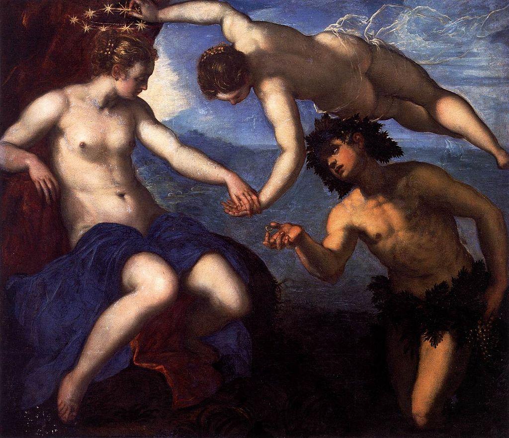 Jacopo Tintoretto - Bacchus, Venus and Ariadne - WGA22618