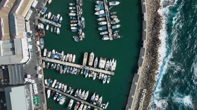 Файл:Jaffa Port Tel Aviv - Israel from Above 4K (Dji Mavic Air) נמל יפו - תל אביב.webm