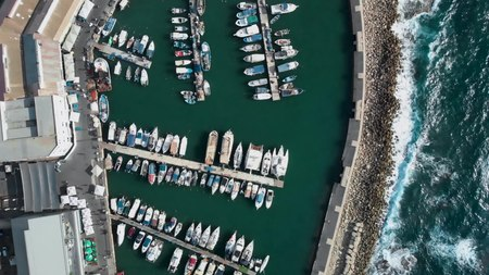 File:Jaffa Port Tel Aviv - Israel from Above 4K (Dji Mavic Air) נמל יפו - תל אביב.webm