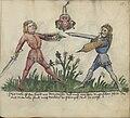 Jagiellonian Ms.Germ.Quart.16 (Gladiatoria) 55r - Messer and Hungarian shield.jpg