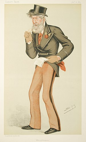 James Patrick Mahon - Caricature by Spy published in Vanity Fair in 1885.