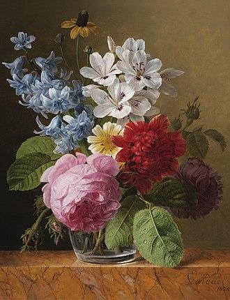 Jan Frans van Dael - Flower bouquet in a glass