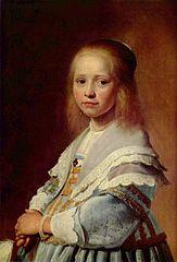 Jan Verspronck - Portret van een meisje in blauw