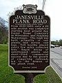 Janesville Plank Road Historical Marker (Back) (3513920235).jpg