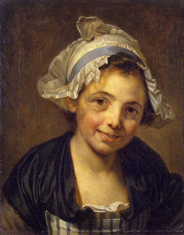 Jean-Baptiste Greuze - Head of a young girl in a bonnet (1760s).jpg