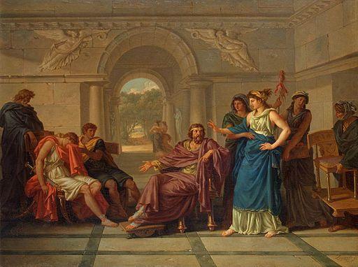 Jean-Jacques Lagrenée - Helen Recognising Telemachus, Son of Odysseus - WGA12378