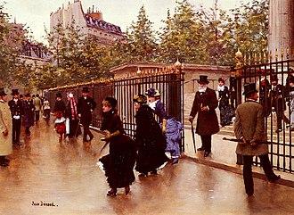La Madeleine, Paris - Sortant De La Madeleine, Paris by Jean Béraud