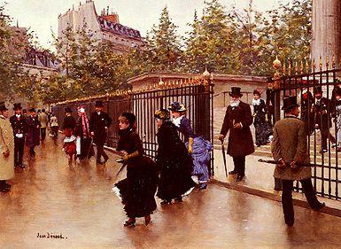Jean Béraud Sortant De La Madeleine, Paris.jpg
