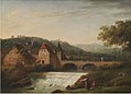 Jens Juel - The Bridge and the Waterfall at Dornach, Switzerland - KMSsp865 - Statens Museum for Kunst.jpg
