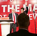 Jeremy Corbyn, Leader of the Labour Party speaking at the General Election Launch 2017 (cropped).jpg