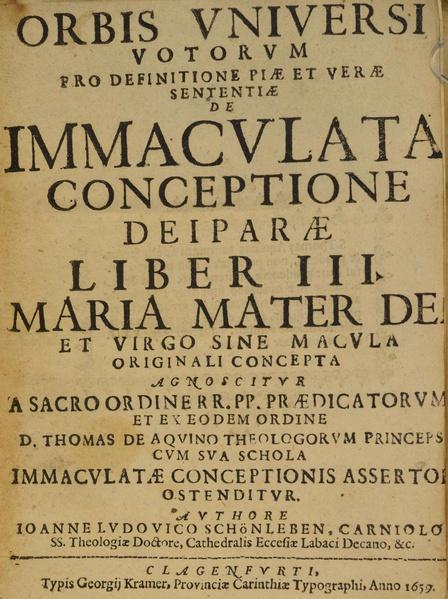 File:Joannis Ludovici Schönleben - Orbis vniversi votorum pro definitione piae et verae sententiae.pdf