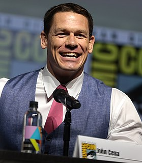 John Cena American professional wrestler, actor, rapper, and television presenter