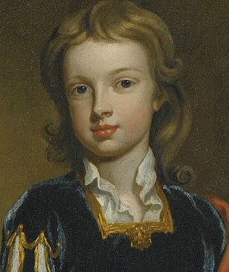 John Churchill, Marquess of Blandford - Detail of a portrait by the studio of Sir Godfrey Kneller, ca. 1698.