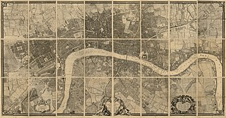 John Rocques Map of London, 1746 Outstanding 18th-century map of London