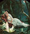 John Simmons - Titania sleeping in the moonlight protected by her fairies.jpg
