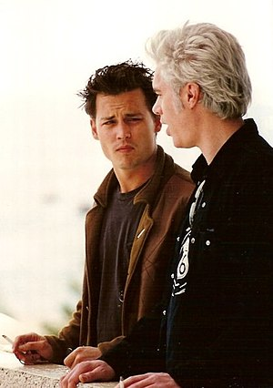 Johnny Depp - Depp with director-screenwriter Jim Jarmusch at the Cannes Film Festival in 1995
