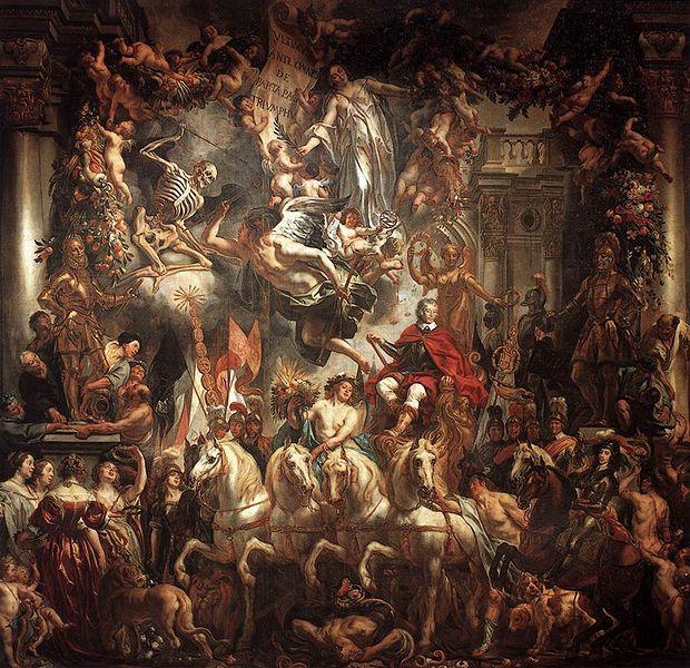 Jacob Jordaens' Triomf van Frederik Hendrik. Uit: Hans den Hartog Jager, Pieter Steinz, Verleden in verf. De Nederlandse geschiedenis in veertig schilderijen