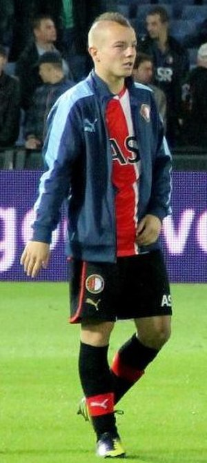 Jordy Clasie - Clasie after a Feyenoord match in 2012