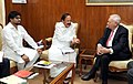 Jose Manuel Garcia-Margallo y Marfil meeting the Union Minister for Urban Development, Housing and Urban Poverty Alleviation and Parliamentary Affairs, Shri M. Venkaiah Naidu.jpg