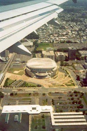 José Miguel Agrelot Coliseum - Aerial view of the José Miguel Agrelot Coliseum after construction.