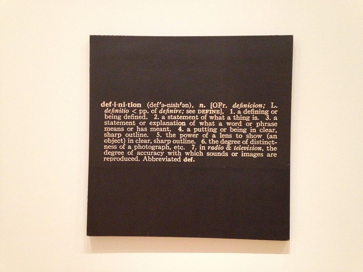 Joseph kosuth wikip dia for Art conceptuel oeuvre